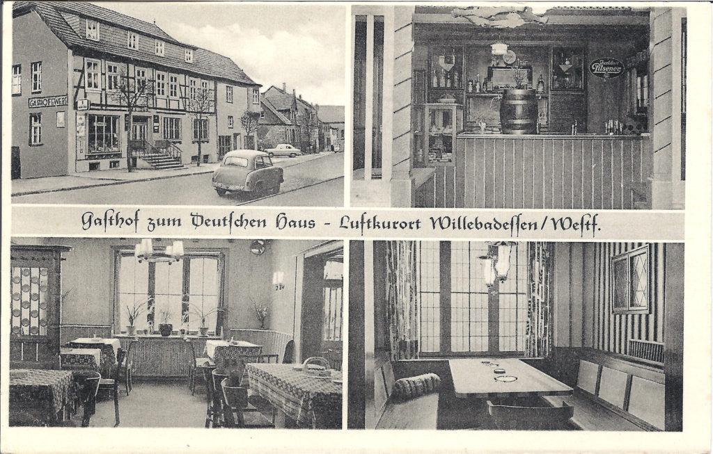 Postkarte Gasthof Deutschen Haus